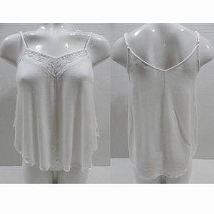 Flying Tomato top Small sleeveless hi low lace